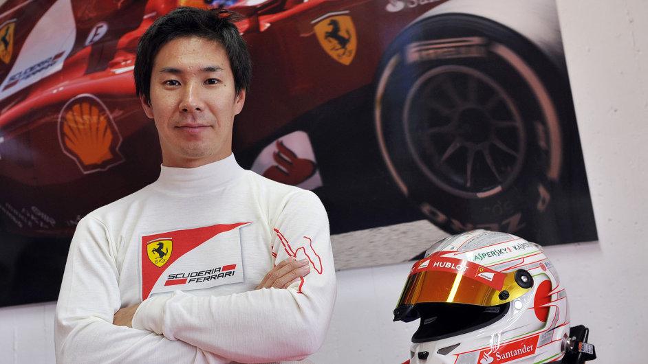 V roce 2013 testoval Kamui Kobajaši monopost Ferrari