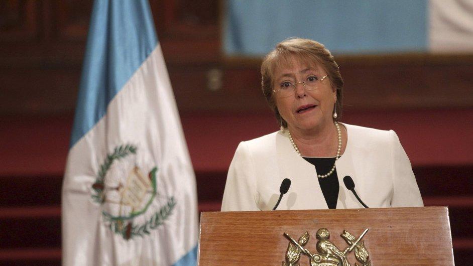 Chilská prezidentka Michelle Bacheletová