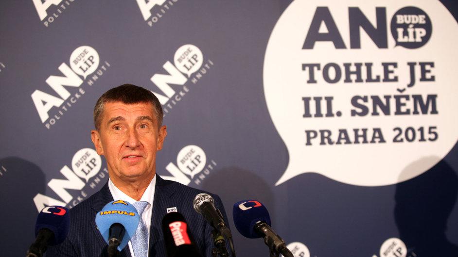 Předseda hnutí ANO Andrej Babiš.