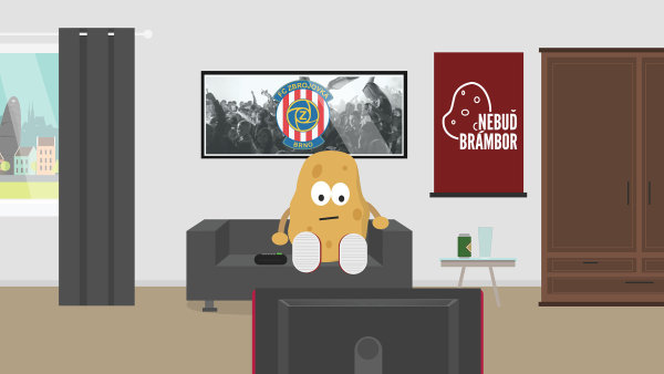 """""""Nebuď brambor a vyraz na fotbal,"""" motivuje své fanoušky Zbrojovka"""
