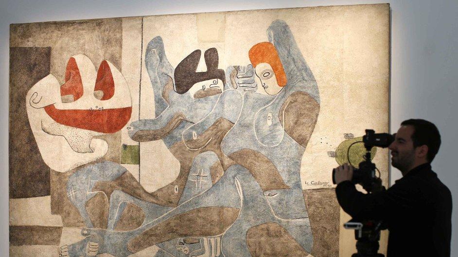 Snímky z výstavy Le Corbusiera v Centre Pompidou