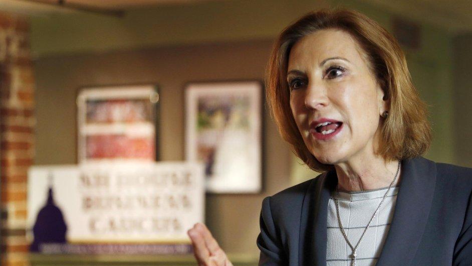 Bývalá šéfka firmy Hewlett-Packard Carly Fiorina chce být prezidentkou.