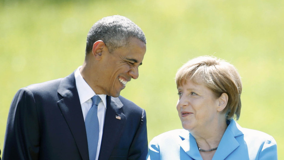 Barack Obama a Angela Merkelová se sešli v Bavorsku.