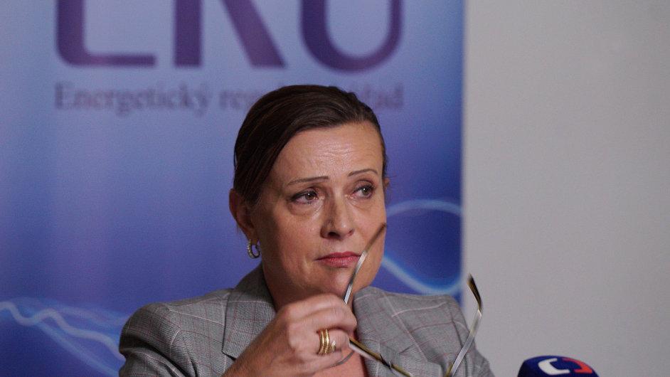 Předsedkyně Energetického regulačního úřadu Alena Vitásková vystoupila 3. srpna na tiskové konferenci v Praze.