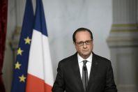 Francouzský prezident Hollande.