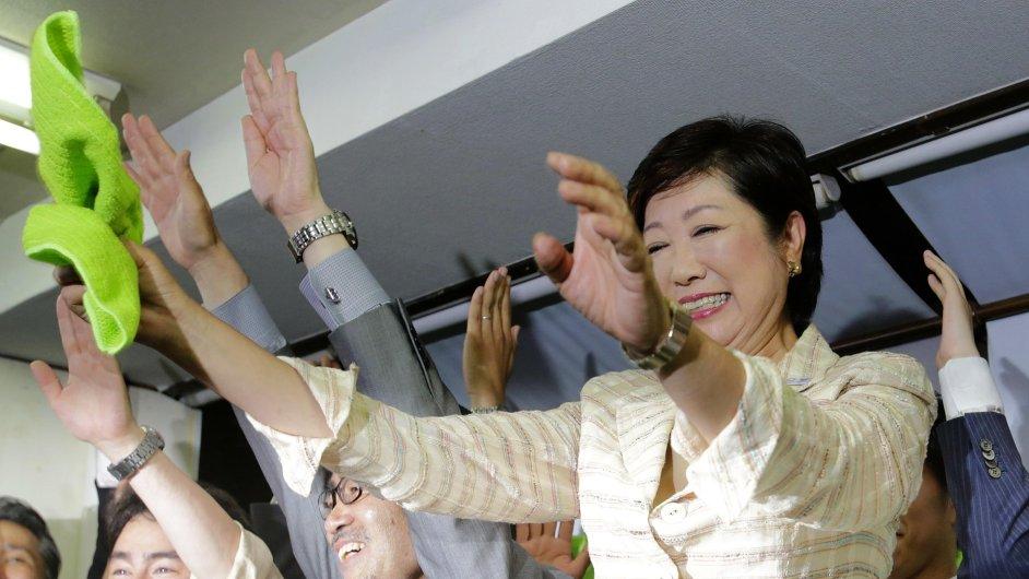 Japonsko Tokio nová guvernérka Juriko Koikeová