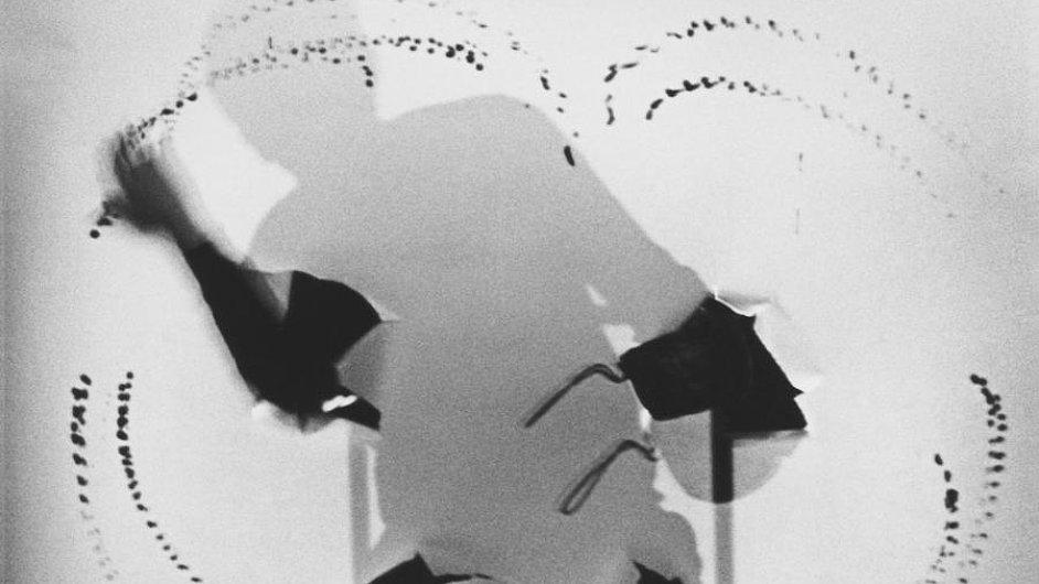 Snímek z performance Milana Grygara v belgickém Gentu roku 1986.
