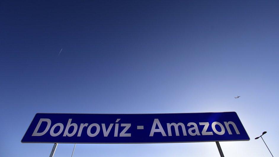 Dobrovíz-Amazon, nová železniční zastávka.