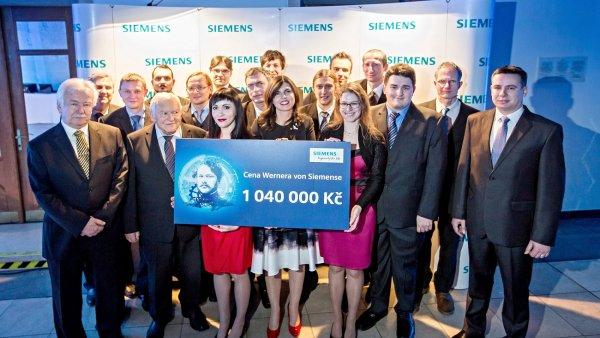Vítězové loňského ročníku soutěže Ceny Wernera von Siemense