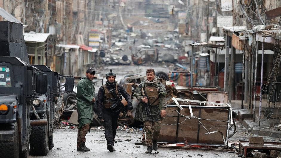 Irácké jednotky v Mosulu