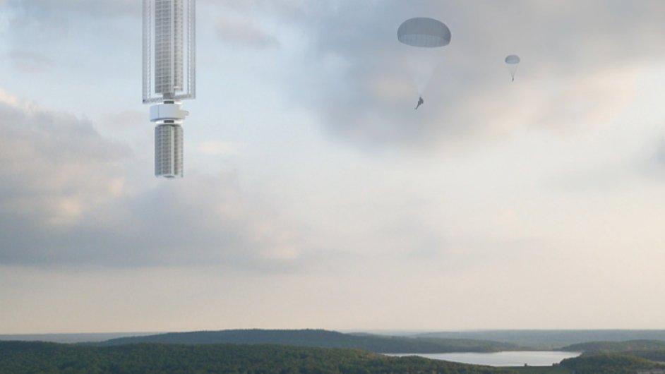 Sci-fi, nebo blízká budoucnost? Mrakodrap má viset nad zemí z asteroidu