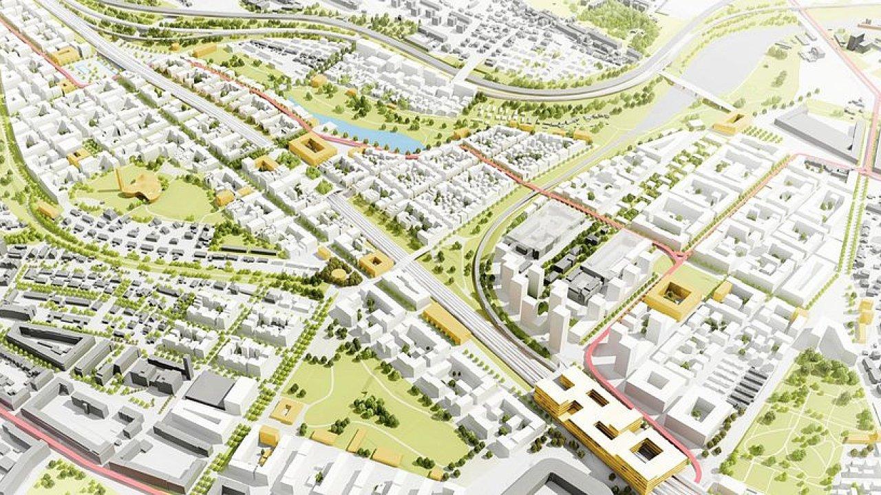 Pražský brownfield na rozhraní Bohdalce a Slatin je velký 130 hektarů, vyrůst by na něm měla nová čtvrť až pro 30 tisíc lidí.