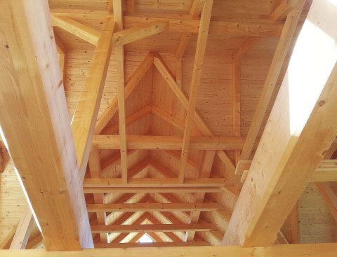 Dřevo je skvělým konstrukčním prvkem nejen pro své materiálně technické vlastnosti, ale též z hlediska estetického.
