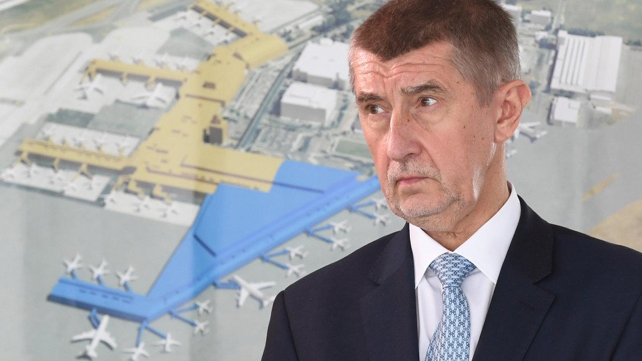 Andrej Babiš, letadla, letectví, letiště