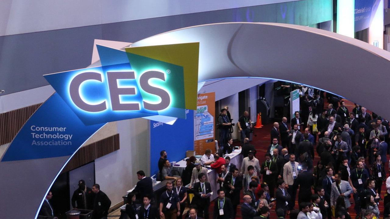 Logo veletrhu CES na výstavišti v Las Vegas
