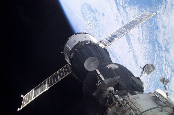 Soyuz TMA 1 at the ISS