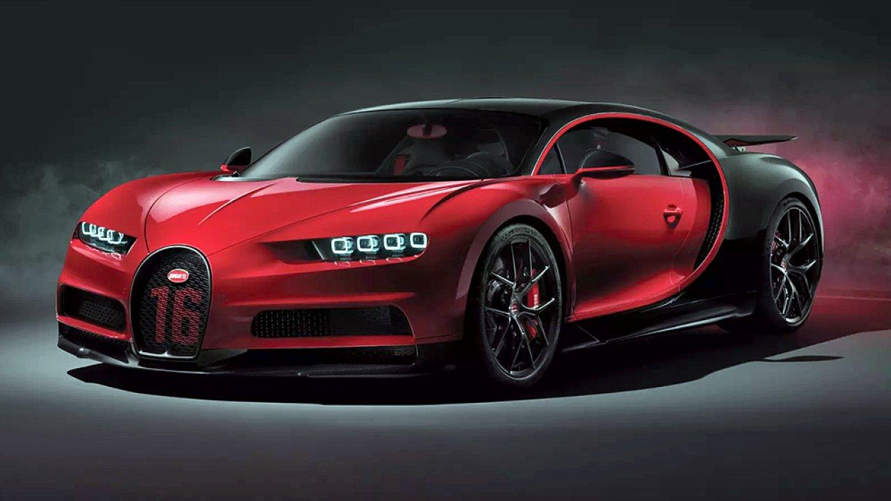 Nové Bugatti Chiron ve verzi Sport.