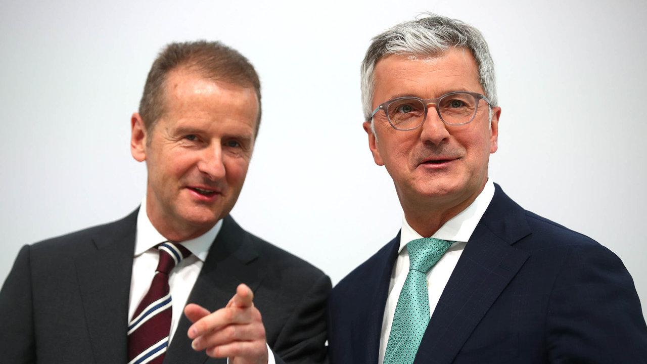 Byl to silný tandem: Současný šéf VW Herbert Diess (vlevo) aRupert Stadler měli vpředstavenstvu koncernu velké slovo.