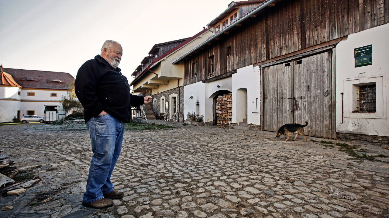 Zakladatel farmy Dvůr Prak Jan Tupý