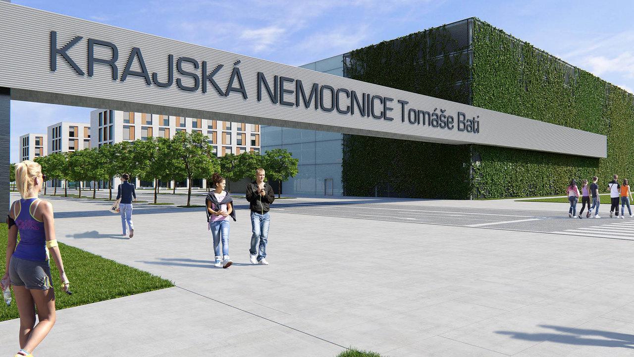 Nová budova zlínské nemocnice za osm miliard korun by měla podle plánů hejtmanství vyrůst do šesti let.