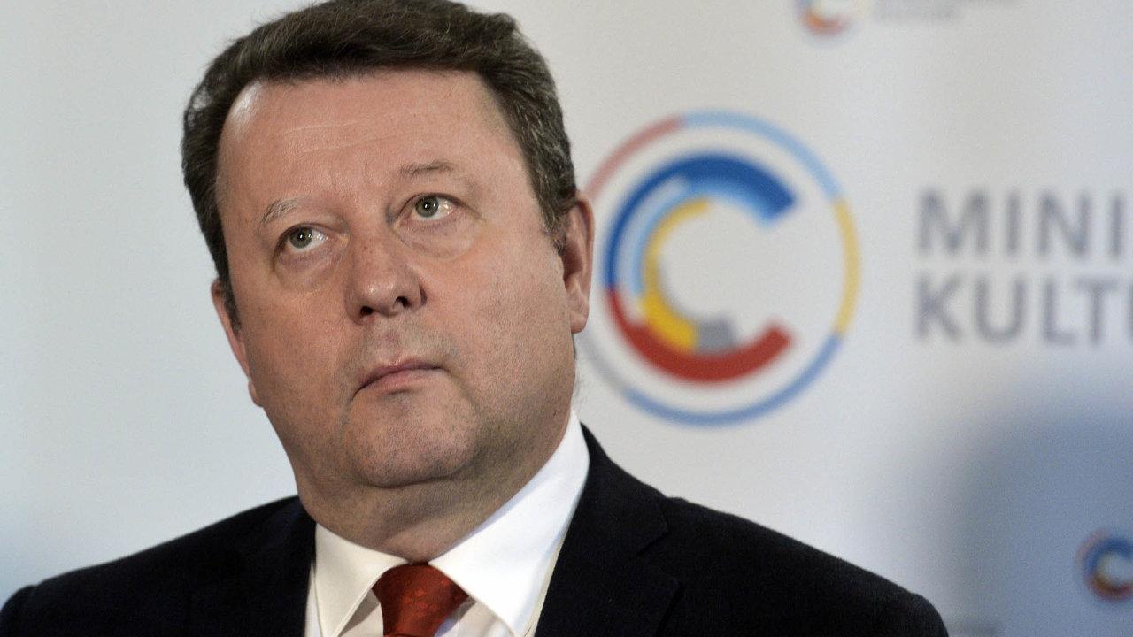 Ministr kultury Antonín Staněk.