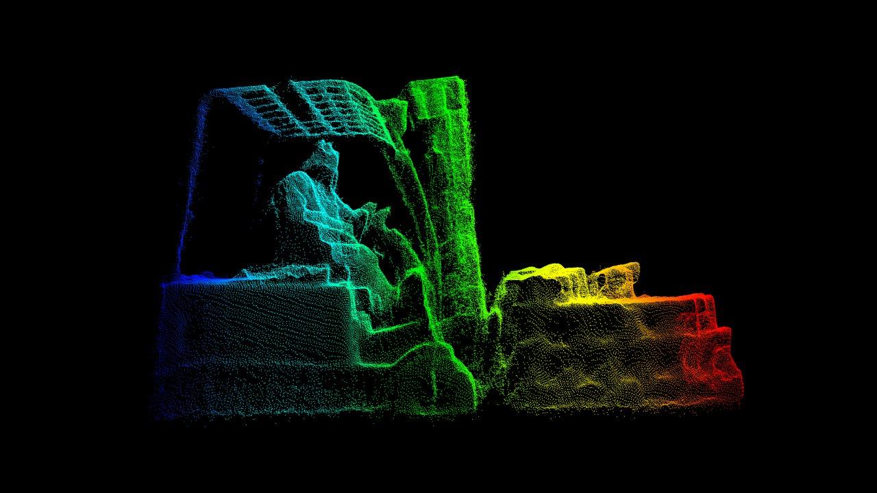 Digitální 3D model vozíku s nákladem