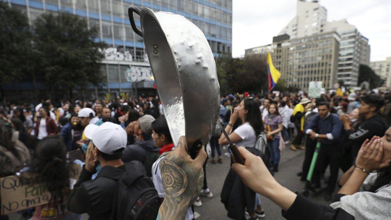 Kolumbie, protesty