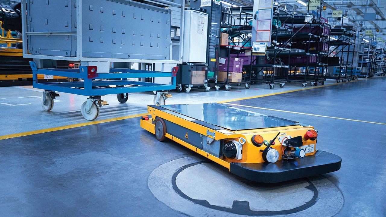 Smart Transport Robot vtovárně BMW vŘezně