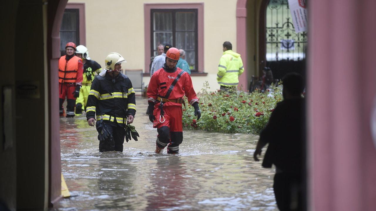 povodně Heřmanův Městec