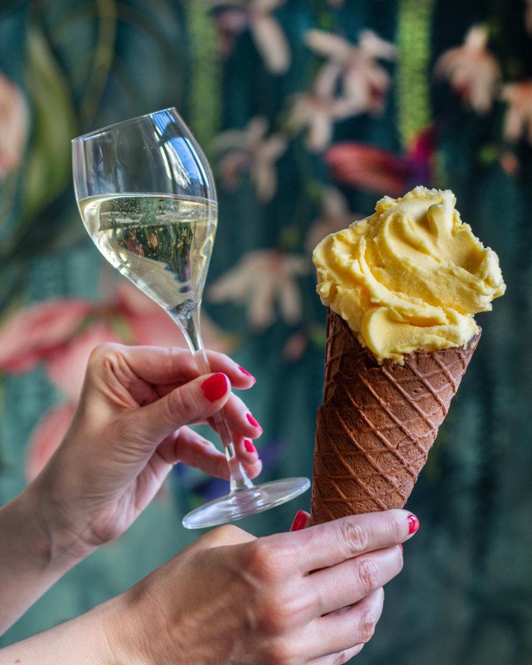 Alkoholová zmrzlina v Crème de la Crème