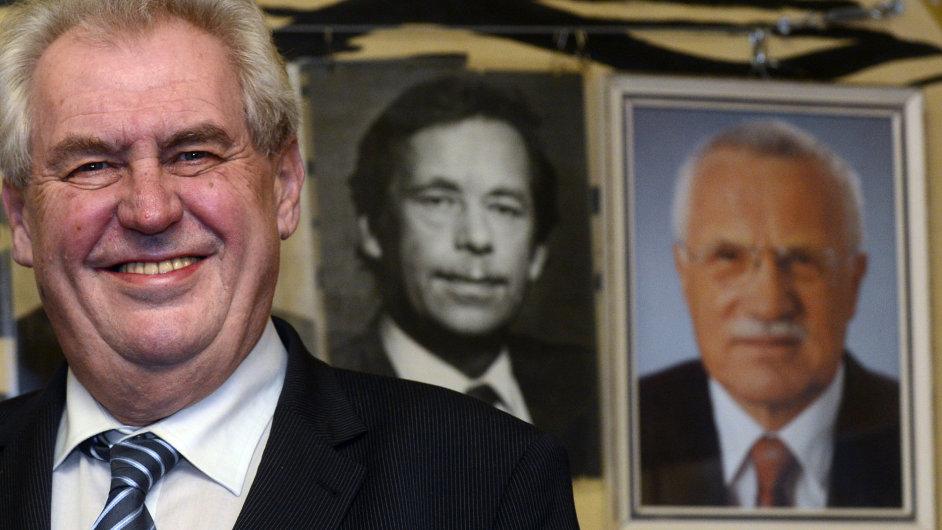 Miloš Zeman slavil se svými přáteli zvolení prezidentem