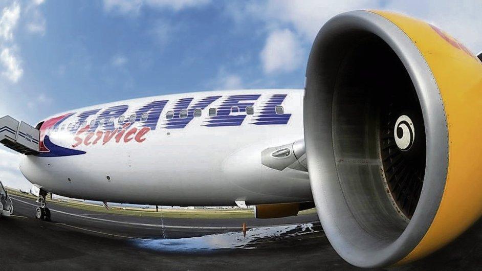 Letadlo firmy Travel Service