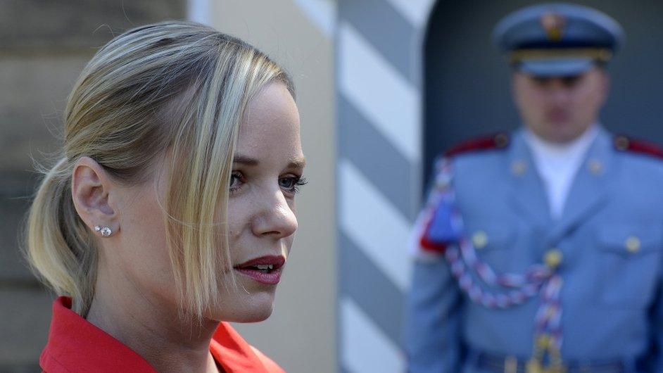 Kateřina Klasnová zašla za prezidentem Milošem Zemanem.