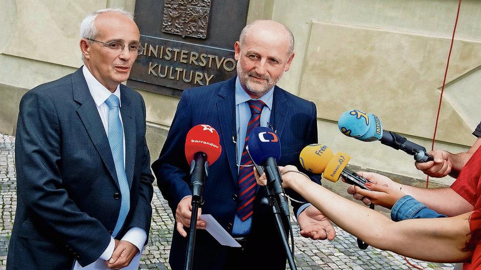 Jan Burian na pátečním setkání s ministrem kultury Jiřím Balvínem.