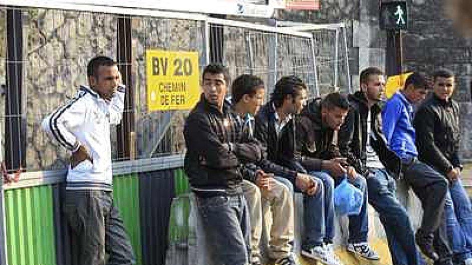 Migranti ze severní Afriky v Pažíři