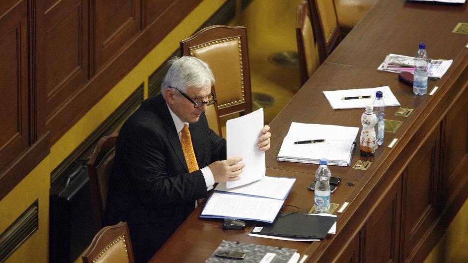 Jiří Rusnok ve sněmovně