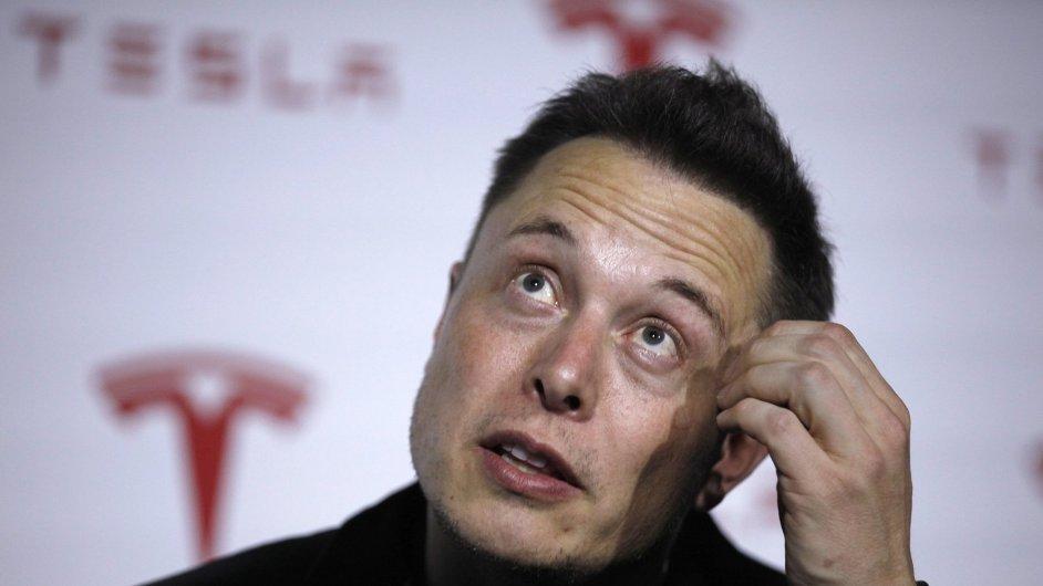 Šéf a spoluzakladatel Tesla Motors Elon Musk