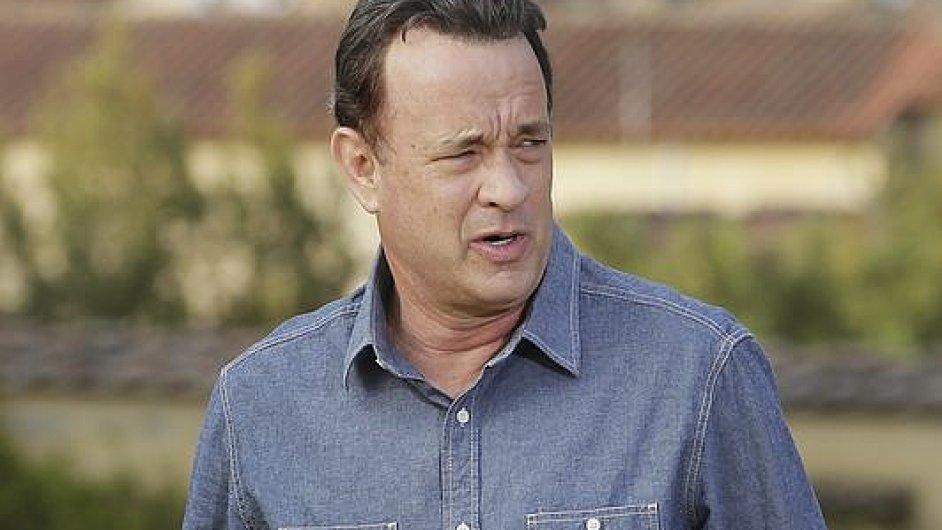 Tom Hanks při pondělním představení filmu ve Florencii