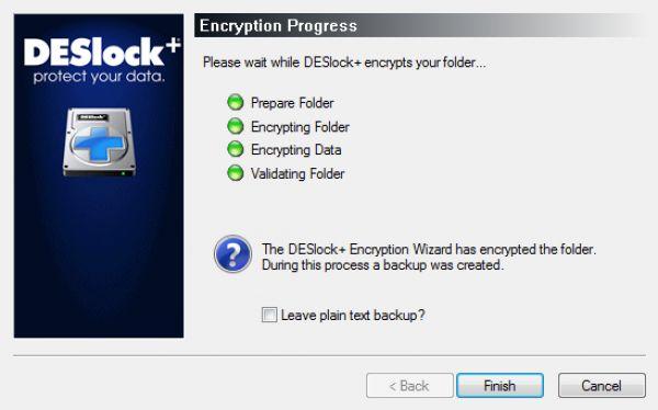 Prostředí šifrovacího nástroje DESlock