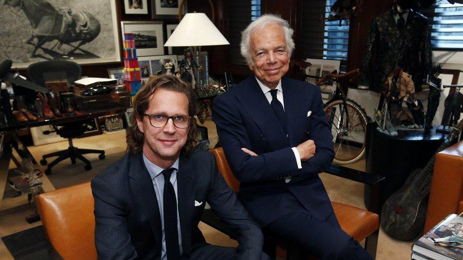 Ralpha Laurena (vpravo) v čele firmy, která nese jeho jméno, vystřídá Švéd Stefan Larsson.