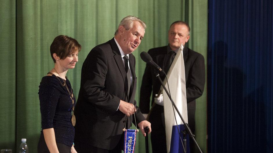 Miloš Zeman na návštěvě v Libereckém kraji.