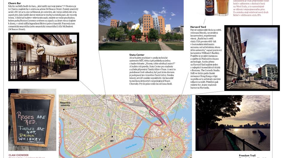 Boston je město zaslíbené historii, vzdělání a sportu.