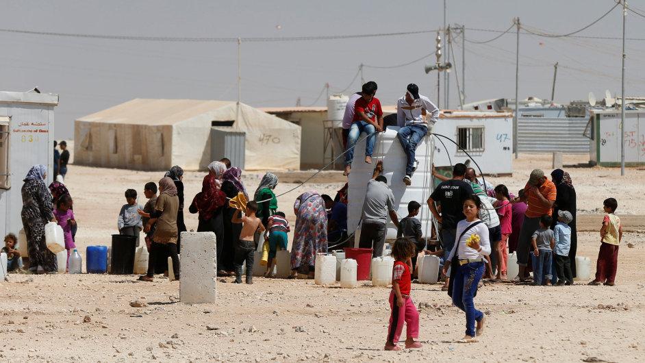 Další uprchlický tábor se v Jordánsku nachází v nedalekém Mafraq.