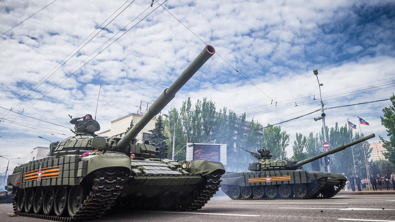 """Tzv. """"Doněcká lidová republika"""", jejíž představitelé okupují východní Ukrajinu."""