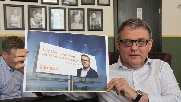 Když bohatne země, musí bohatnout i lidé - nové volební heslo ČSSD představil její lídr Lubomír Zaorálek.