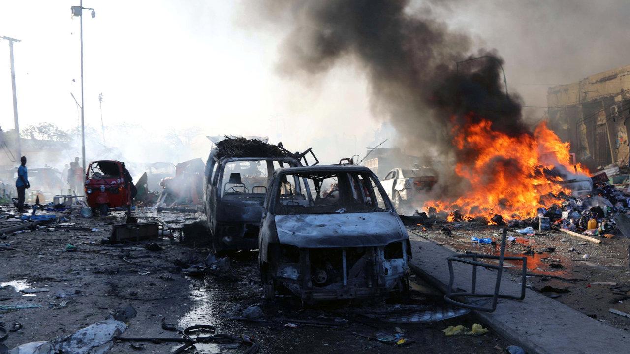 Nejtragičtější útok v dějinách Somálska, výbuch, exploze, Mogadišu