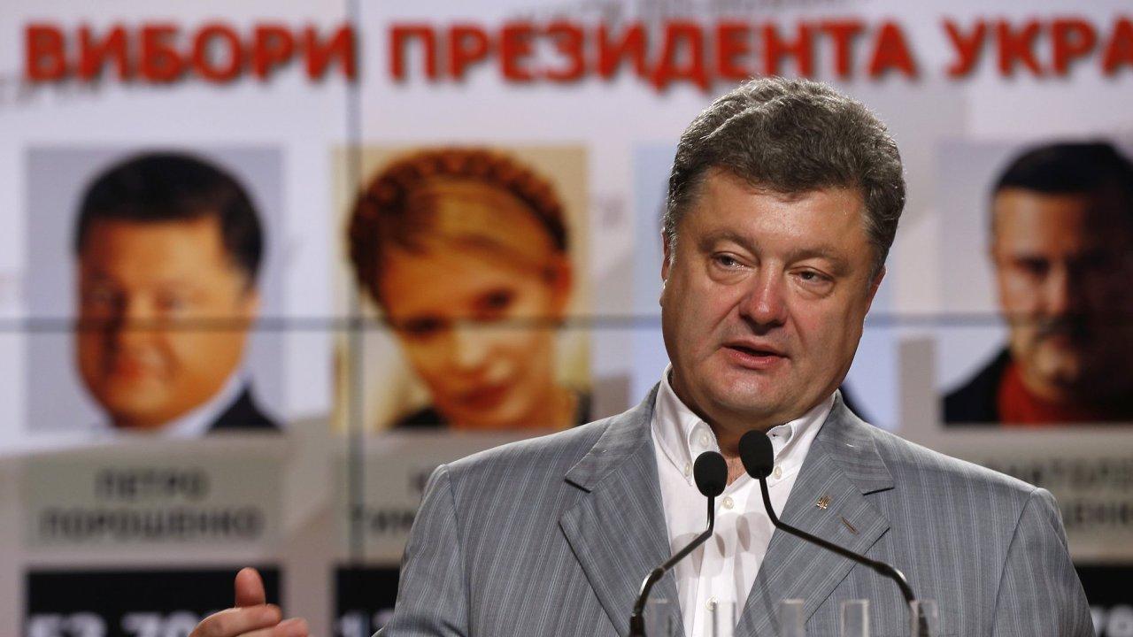 Podnikatel a kandidát na ukrajinského prezidenta Petr Porošenko