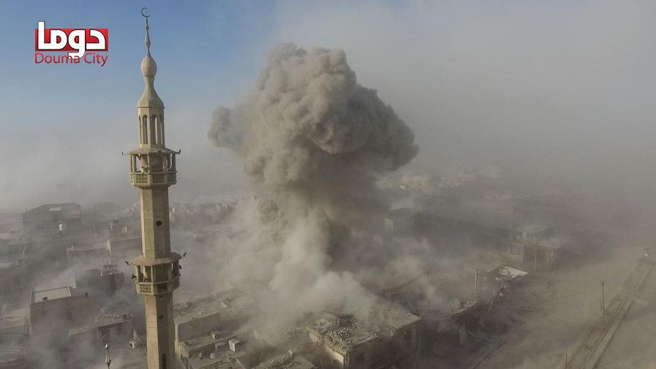 Douma Sýrie chemický útok