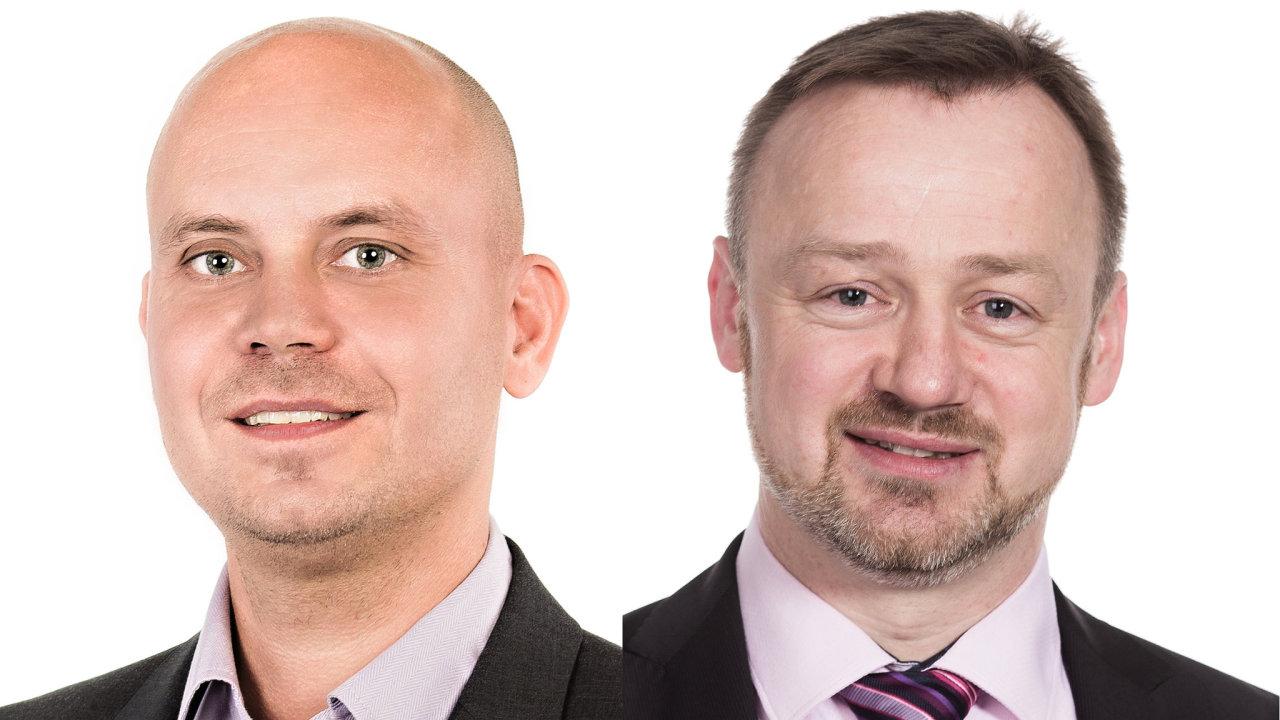 Jakub Vítek, marketingový ředitel Dell EMC Česká republika; Stanislav Hájek, EMEA channel marketing planning and budget lead Dell EMC