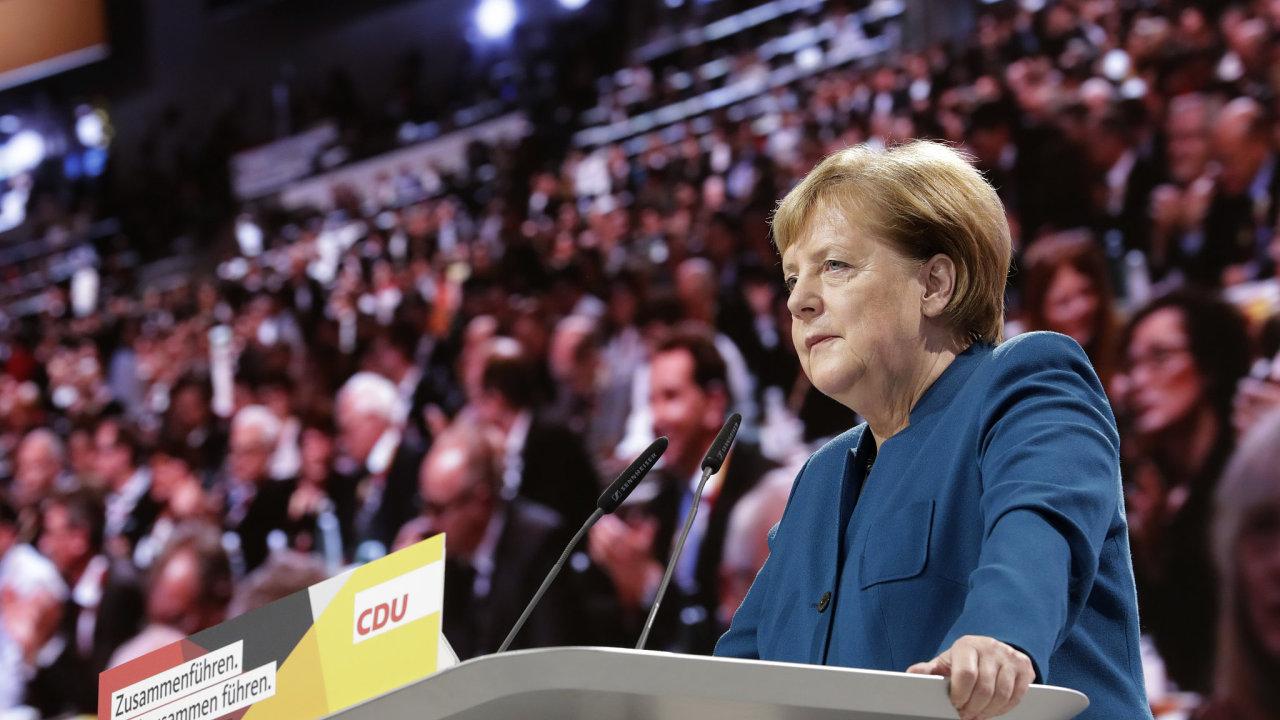 Poslední projev Angely Merkelové jako předsedkyně CDU.